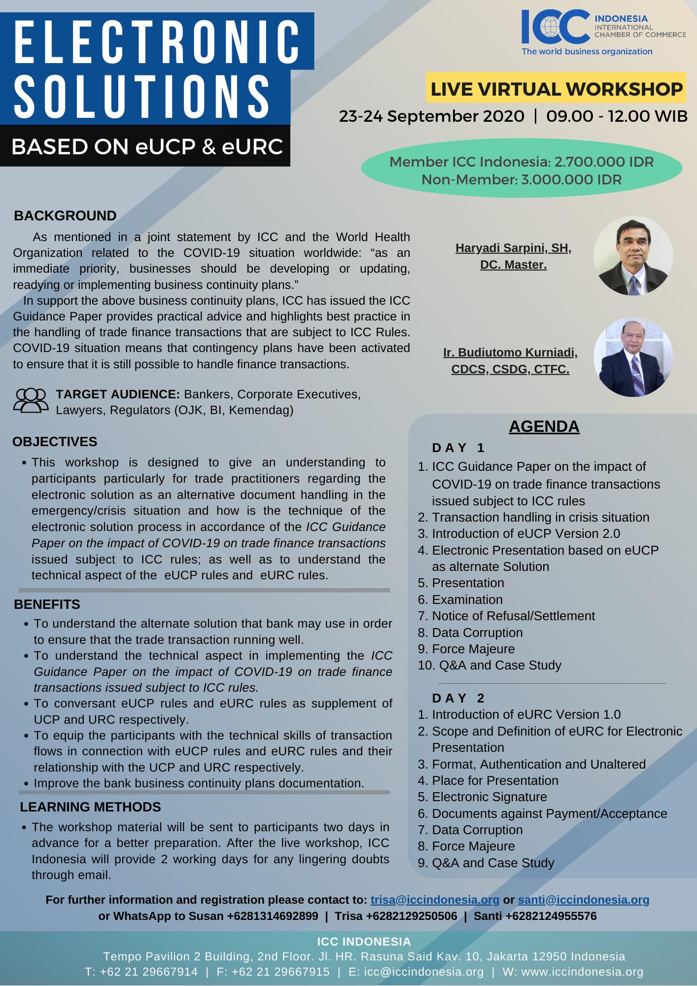 Electronic Solutions Based On eUCP & eURC